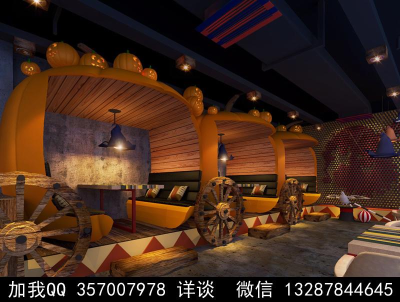 主题餐厅设计案例效果图_图1-18