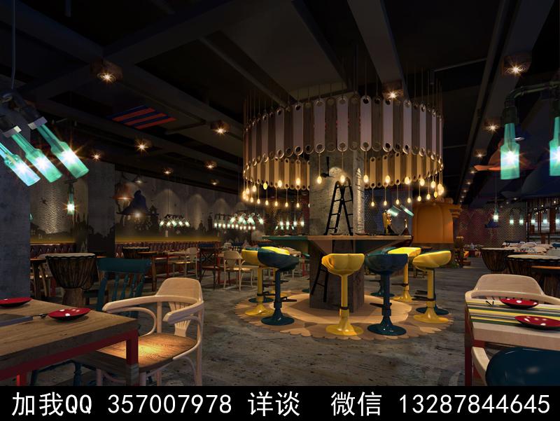 主题餐厅设计案例效果图_图1-19