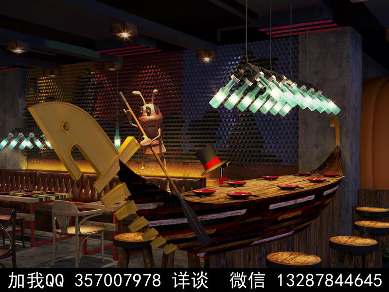 主题餐厅设计案例效果图_图1-20