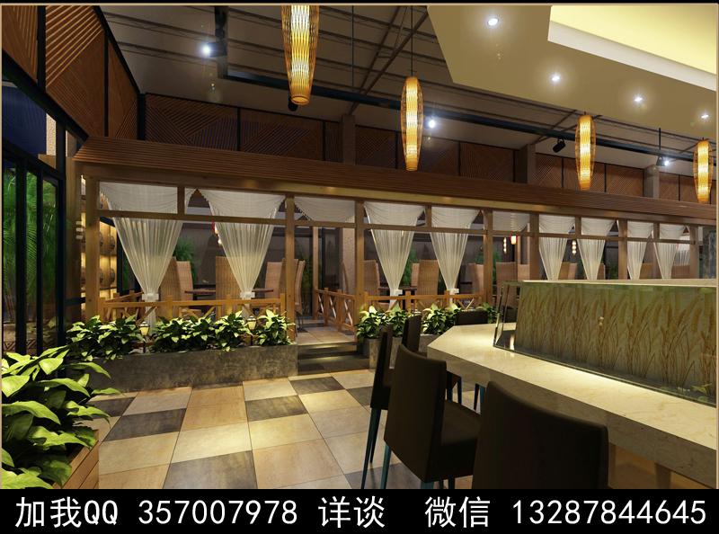 主题餐厅设计案例效果图_图1-9