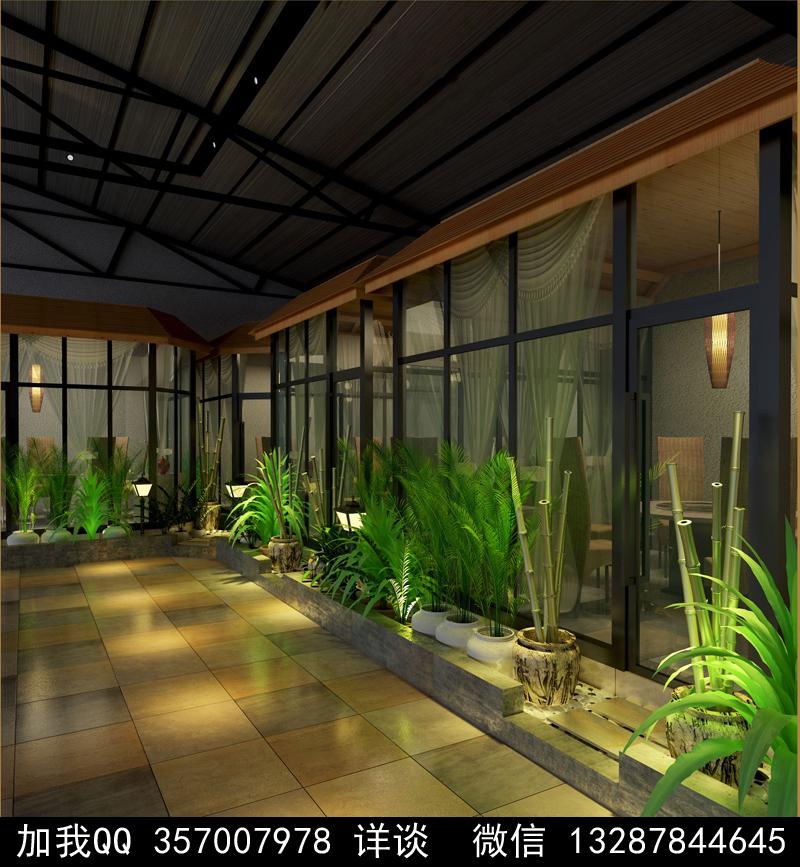 主题餐厅设计案例效果图_图1-2