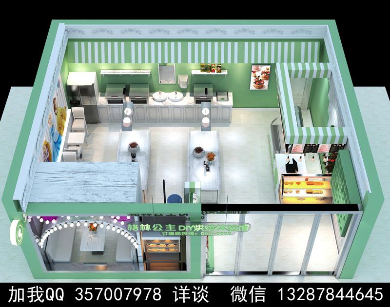 烘焙面包店设计案例效果图_图1-22