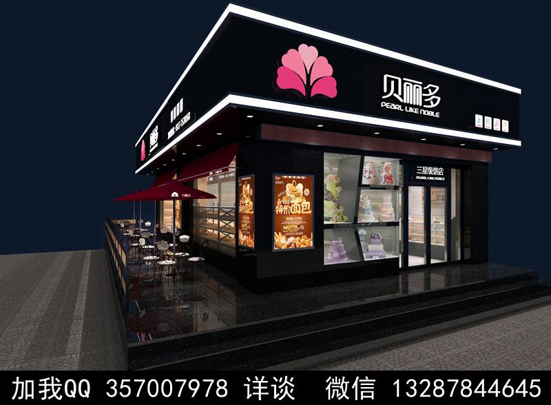 烘焙面包店设计案例效果图_图1-14