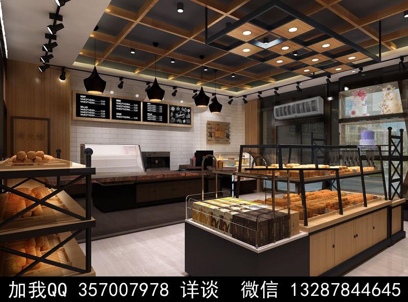 烘焙面包店设计案例效果图_图1-15