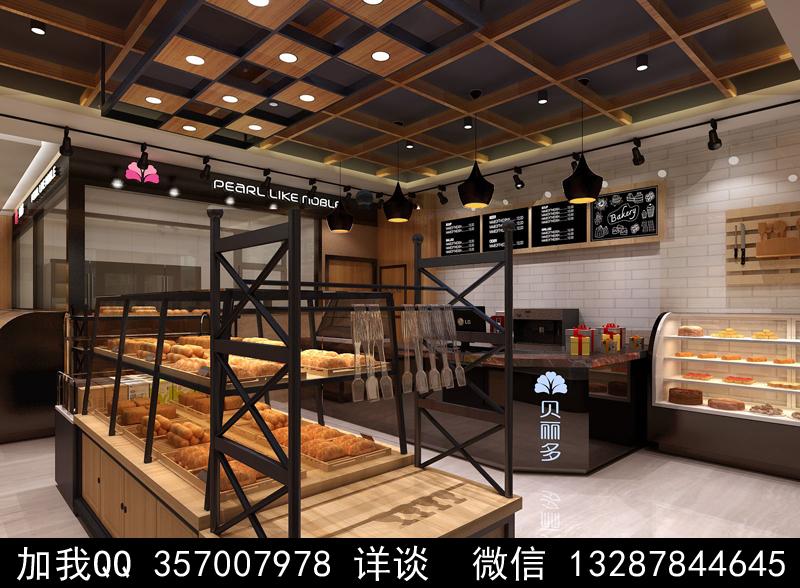 烘焙面包店设计案例效果图_图1-16
