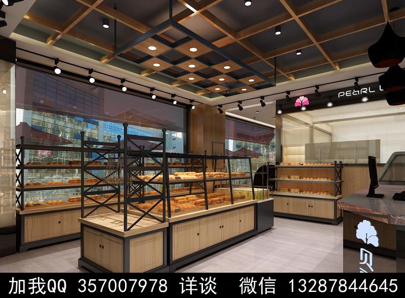 烘焙面包店设计案例效果图_图1-17