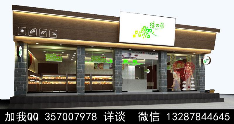 烘焙面包店设计案例效果图_图1-13