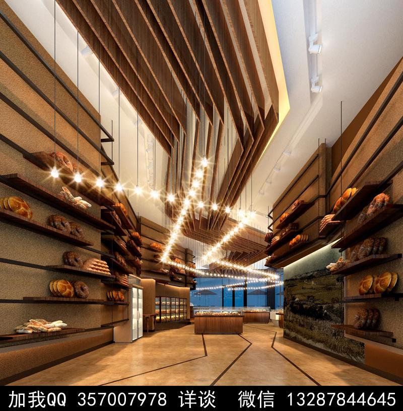 烘焙面包店设计案例效果图_图1-6