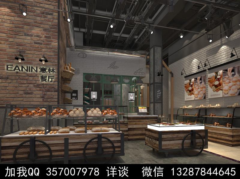 烘焙面包店设计案例效果图_图1-7
