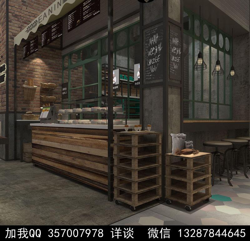 烘焙面包店设计案例效果图_图1-8