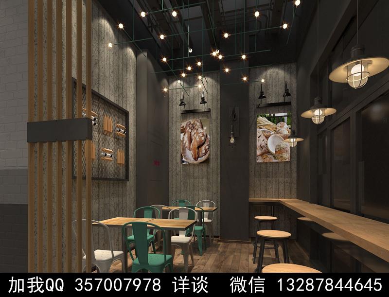 烘焙面包店设计案例效果图_图1-5
