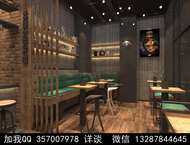 烘焙面包店设计案例效果图_图1-3