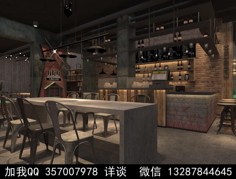 烘焙面包店设计案例效果图_图1-2