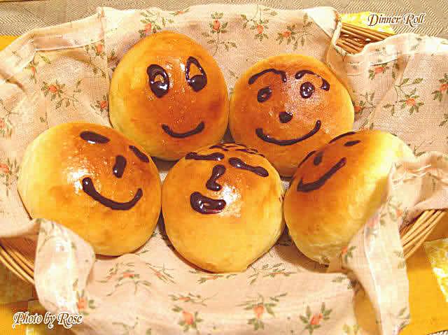 Smiling Face Dinner Rolls (笑脸餐包)_图1-1