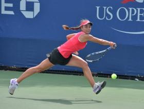 美国网球公开赛名星赛场内外瞬间掠影