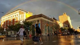 【田螺摄影】手机记录.今天曼哈顿的大彩虹