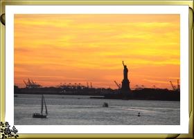 布鲁克林海滩黄昏景色(10月15日晚拍摄)