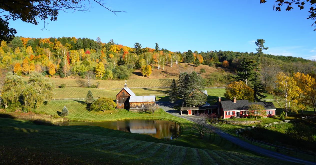 Vermount - 美国大农村的秋天好美!_图1-1