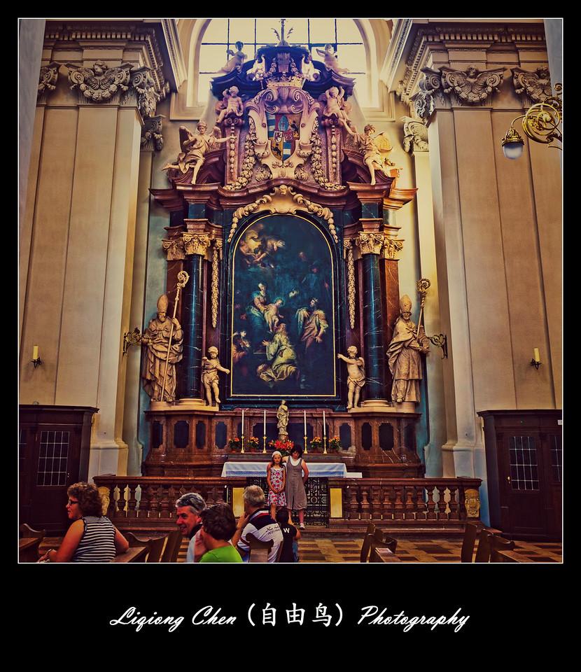 【自由鸟】德国帕紹,圣斯德望主教堂的内饰_图1-2