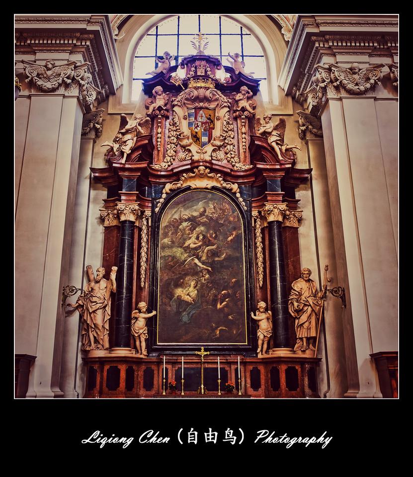 【自由鸟】德国帕紹,圣斯德望主教堂的内饰_图1-3
