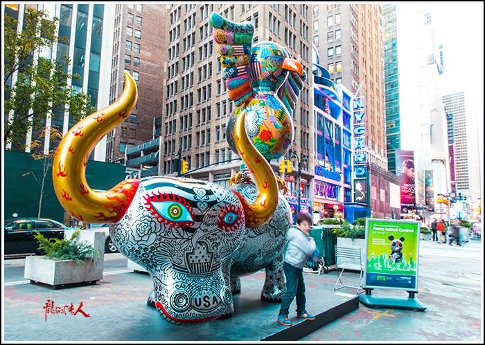 【龍的传人】42街街边艺术雕_图1-2