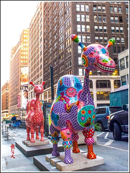 【龍的传人】42街街边艺术雕_图1-4