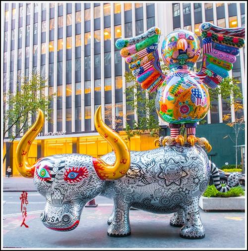 【龍的传人】42街街边艺术雕_图1-9