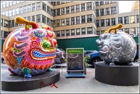 【龍的传人】42街街边艺术雕