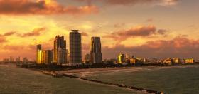 夕阳下的迈阿密港,把我迷住了
