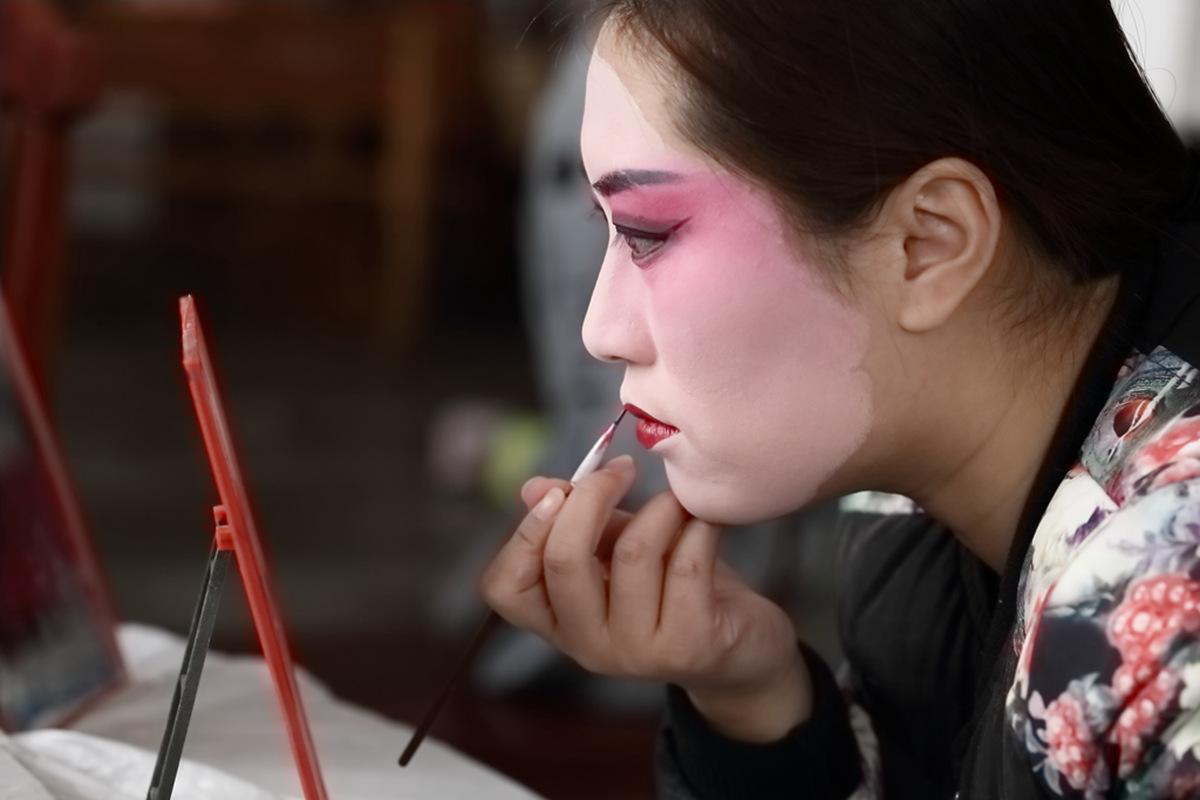 山东柳子戏剧团在寒风中为河东区人民送上一台文化大餐_图1-8
