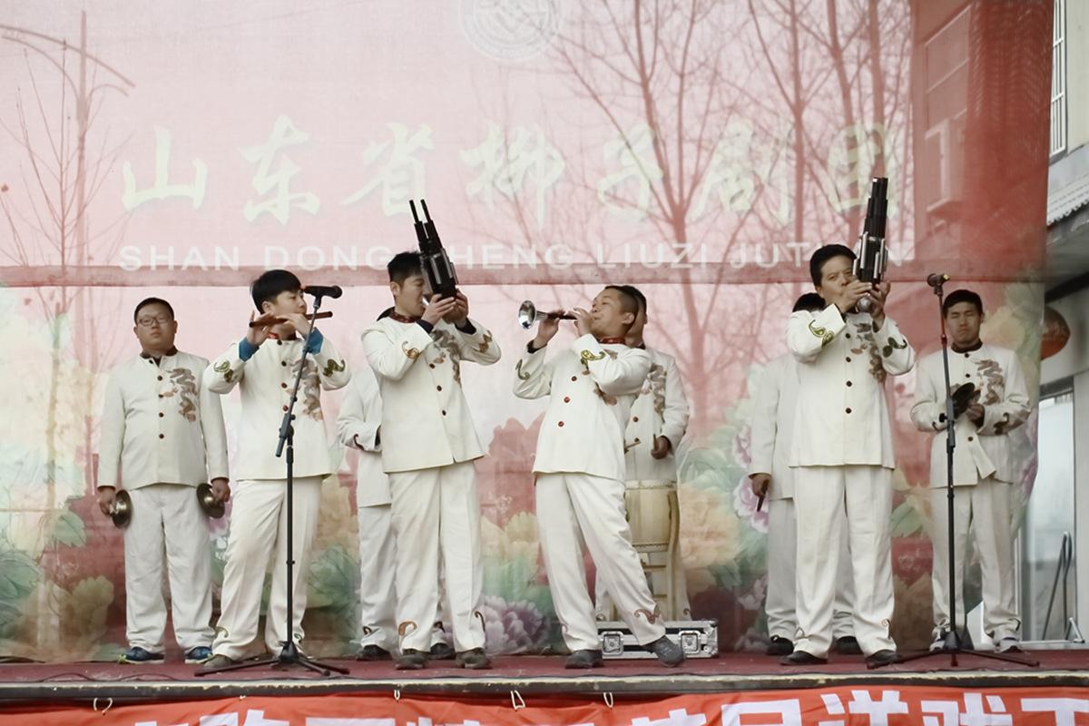 山东柳子戏剧团在寒风中为河东区人民送上一台文化大餐_图1-23