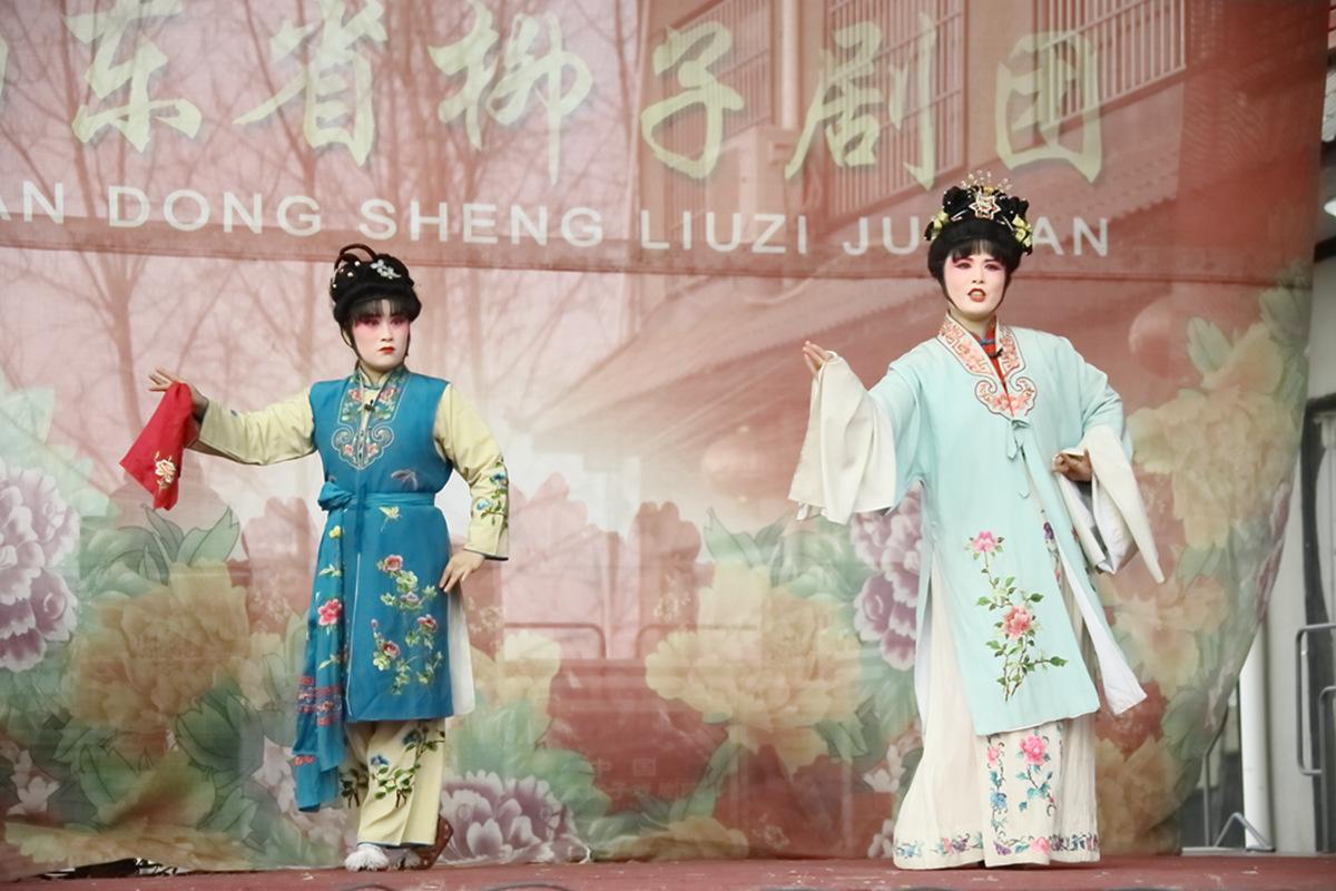 山东柳子戏剧团在寒风中为河东区人民送上一台文化大餐_图1-36