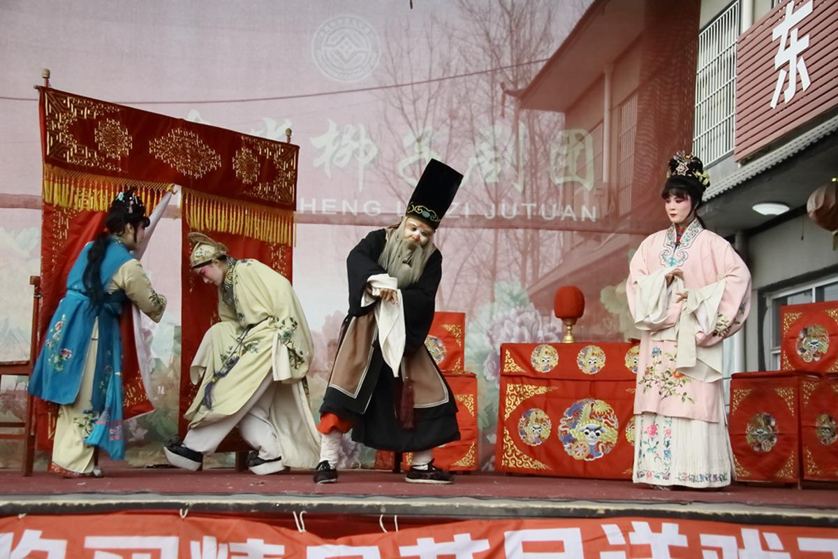 山东柳子戏剧团在寒风中为河东区人民送上一台文化大餐_图1-45