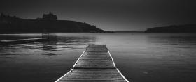 一组超宽黑白风景