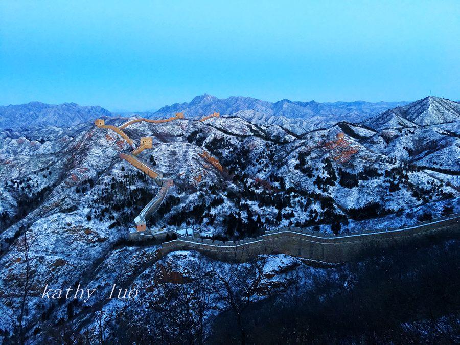 【小虫摄影】长城雪--手机摄影