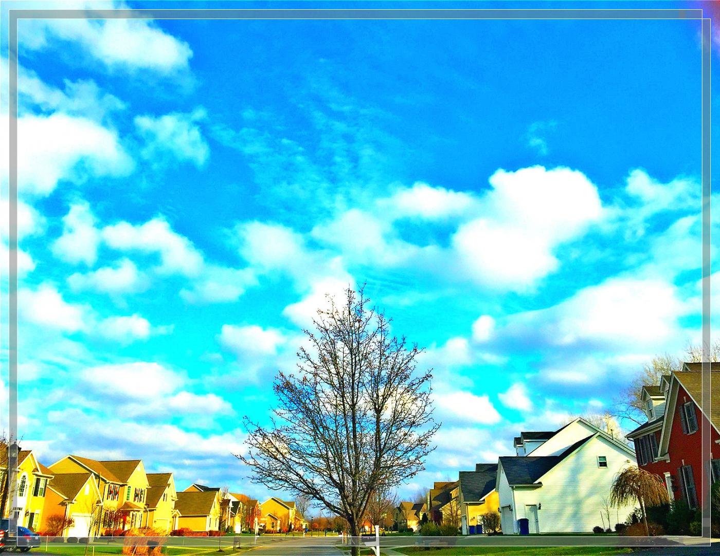 4格照片---蓝蓝的天空白云飘_图1-3