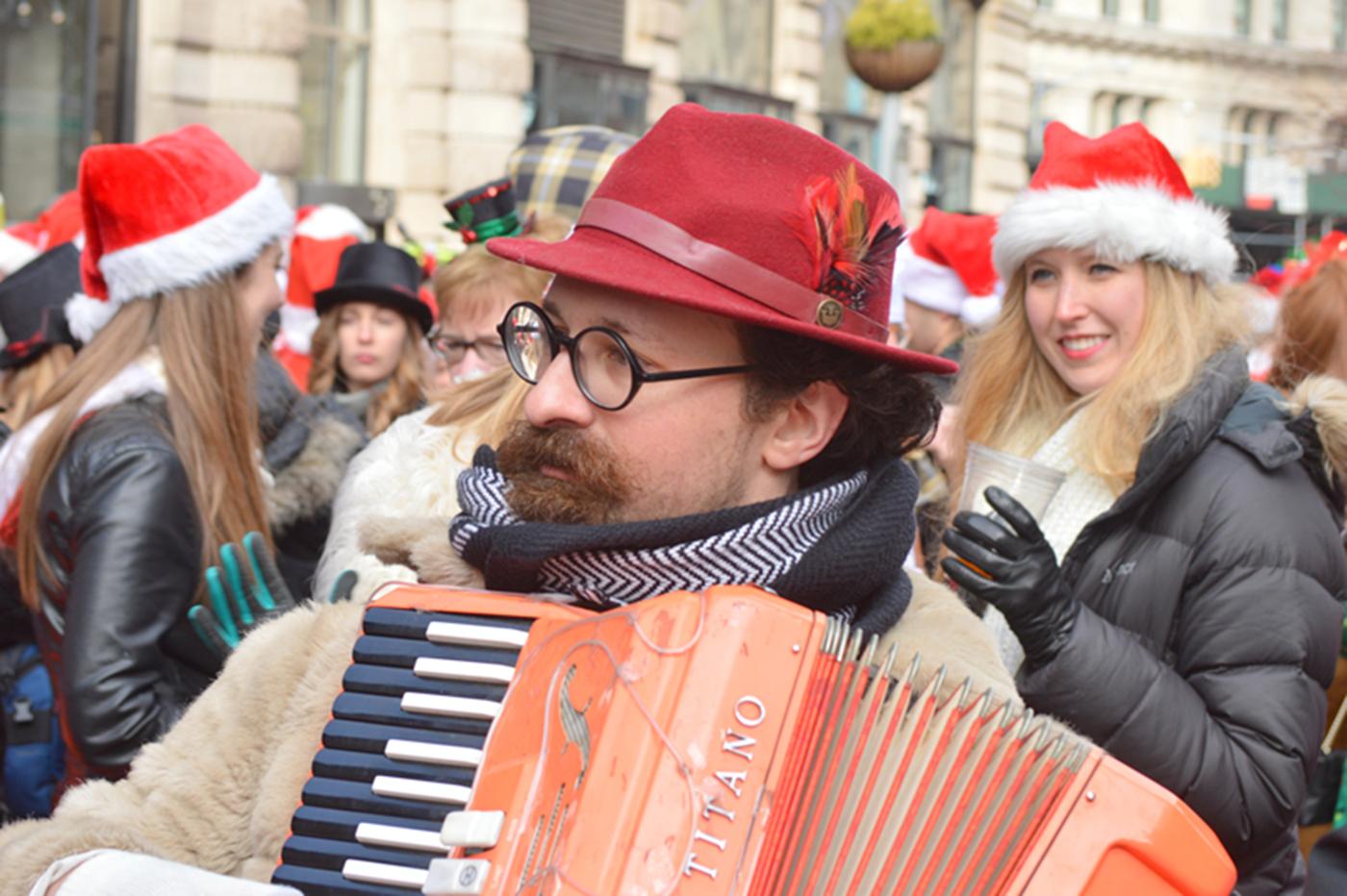 纽约客喜迎圣诞(二):圣诞老人节_图1-3