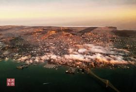 空中鸟瞰旧金山