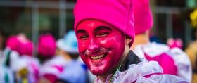 带着微笑,2017年元旦费城游行