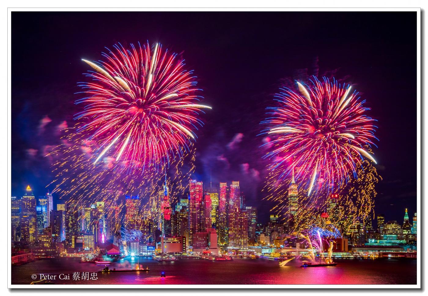 为庆祝中国新年, 纽约昨天晚上盛放焰火_图1-2