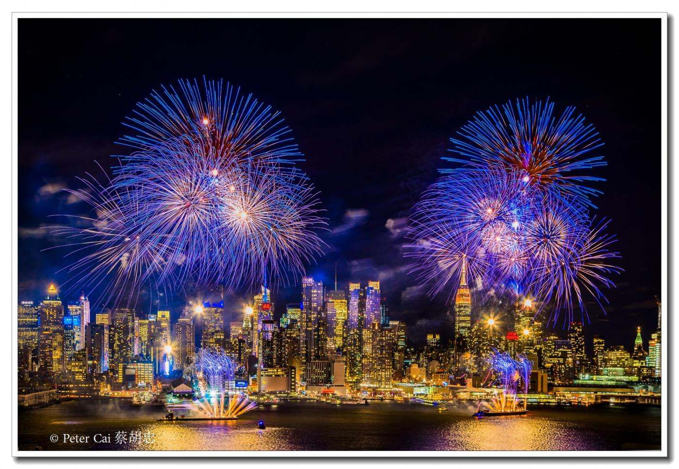 为庆祝中国新年, 纽约昨天晚上盛放焰火_图1-3