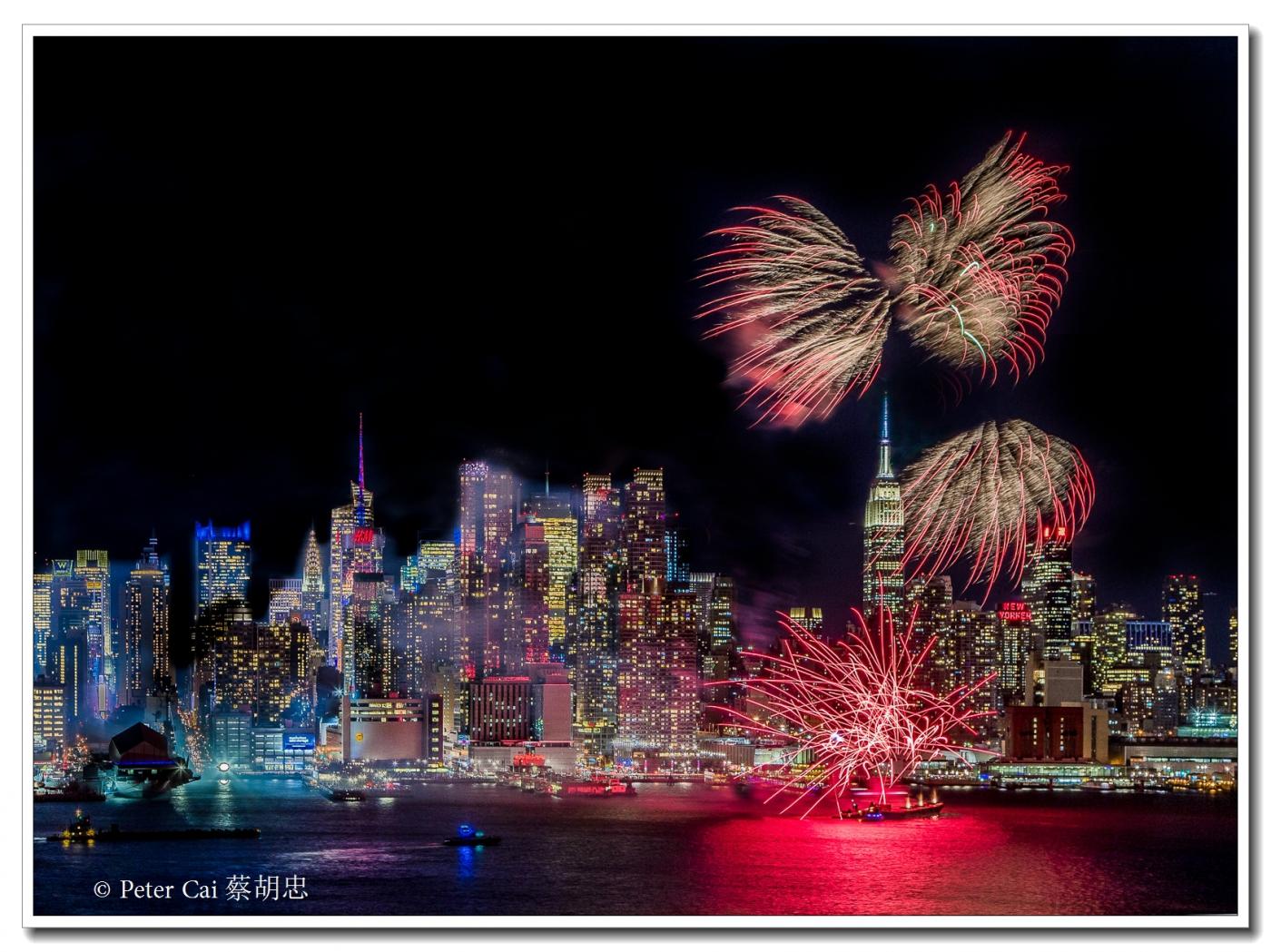 为庆祝中国新年, 纽约昨天晚上盛放焰火_图1-4