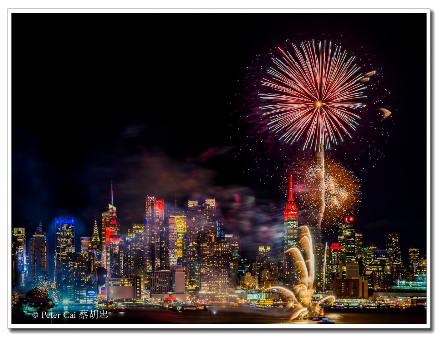 为庆祝中国新年, 纽约昨天晚上盛放焰火_图1-5