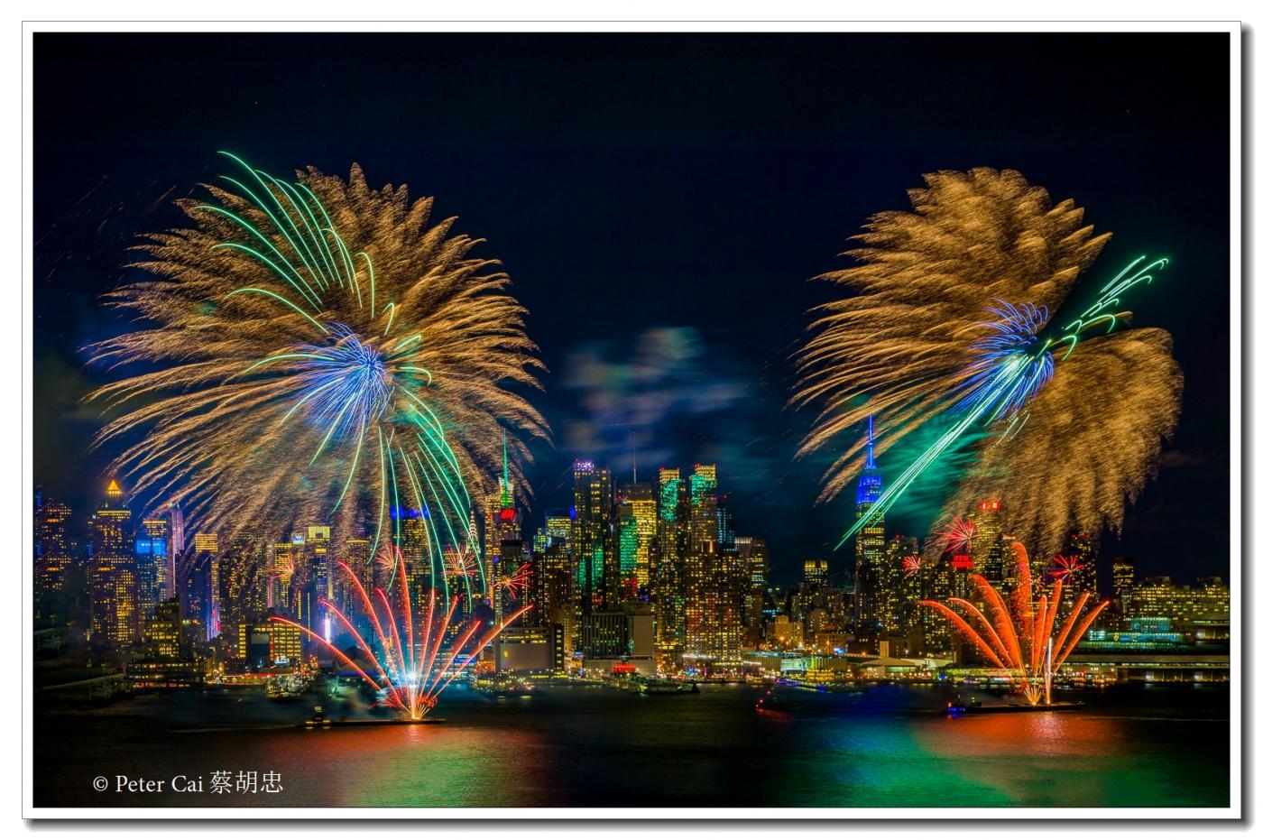 为庆祝中国新年, 纽约昨天晚上盛放焰火_图1-6