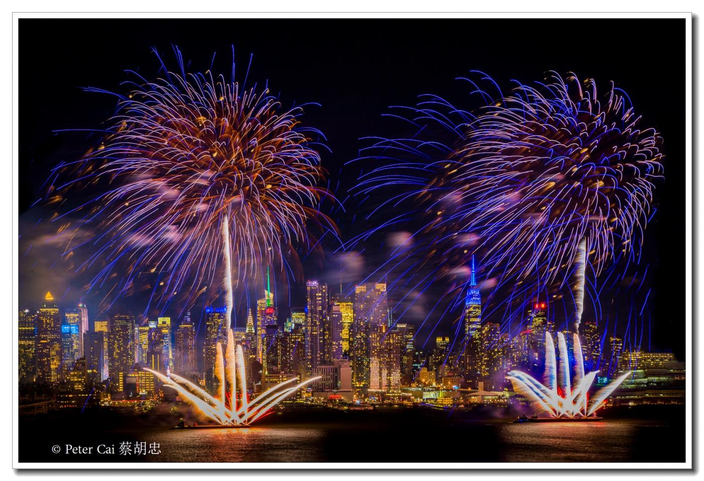为庆祝中国新年, 纽约昨天晚上盛放焰火_图1-7
