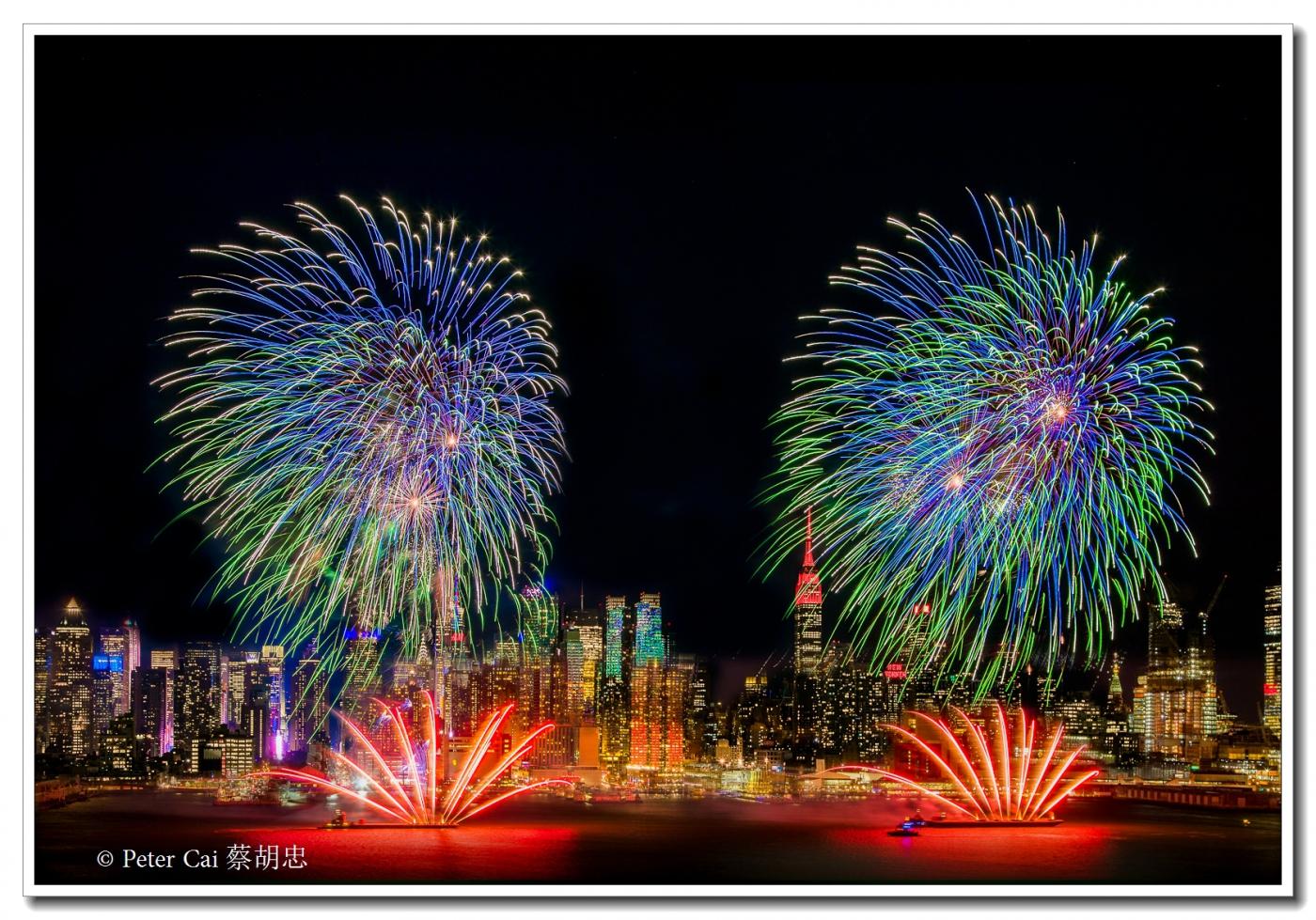 为庆祝中国新年, 纽约昨天晚上盛放焰火_图1-8