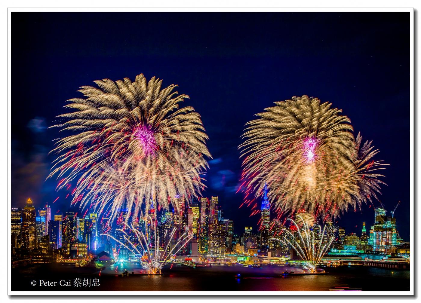 为庆祝中国新年, 纽约昨天晚上盛放焰火_图1-9