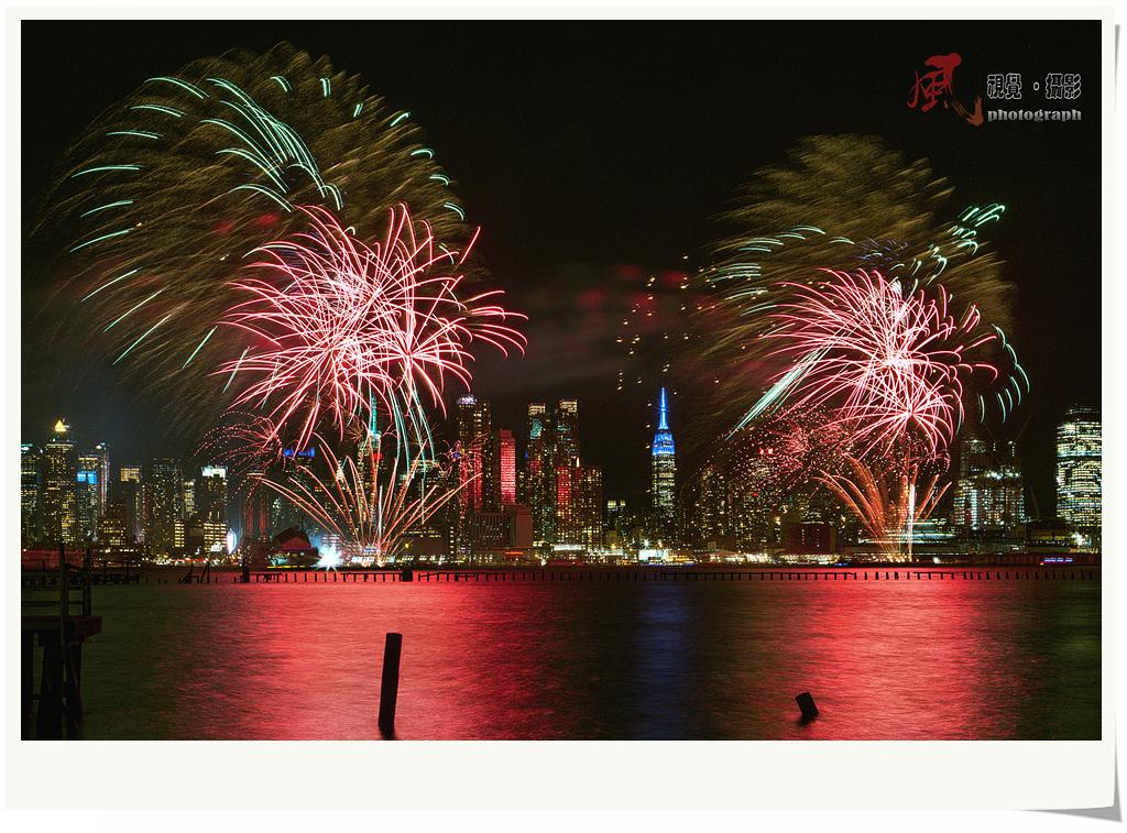 【风】春节焰火点亮纽约夜空_图1-3