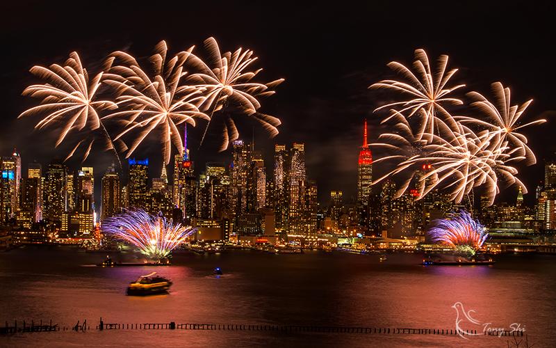 纽约庆祝中国新年烟花汇演_图2-2