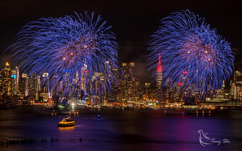 纽约庆祝中国新年烟花汇演_图2-3